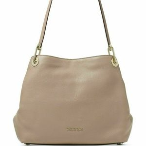 Michael Kors Raven Pebble Leather Tote in Truffle